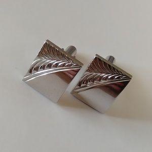 Speidel silver etched vintage cuff links